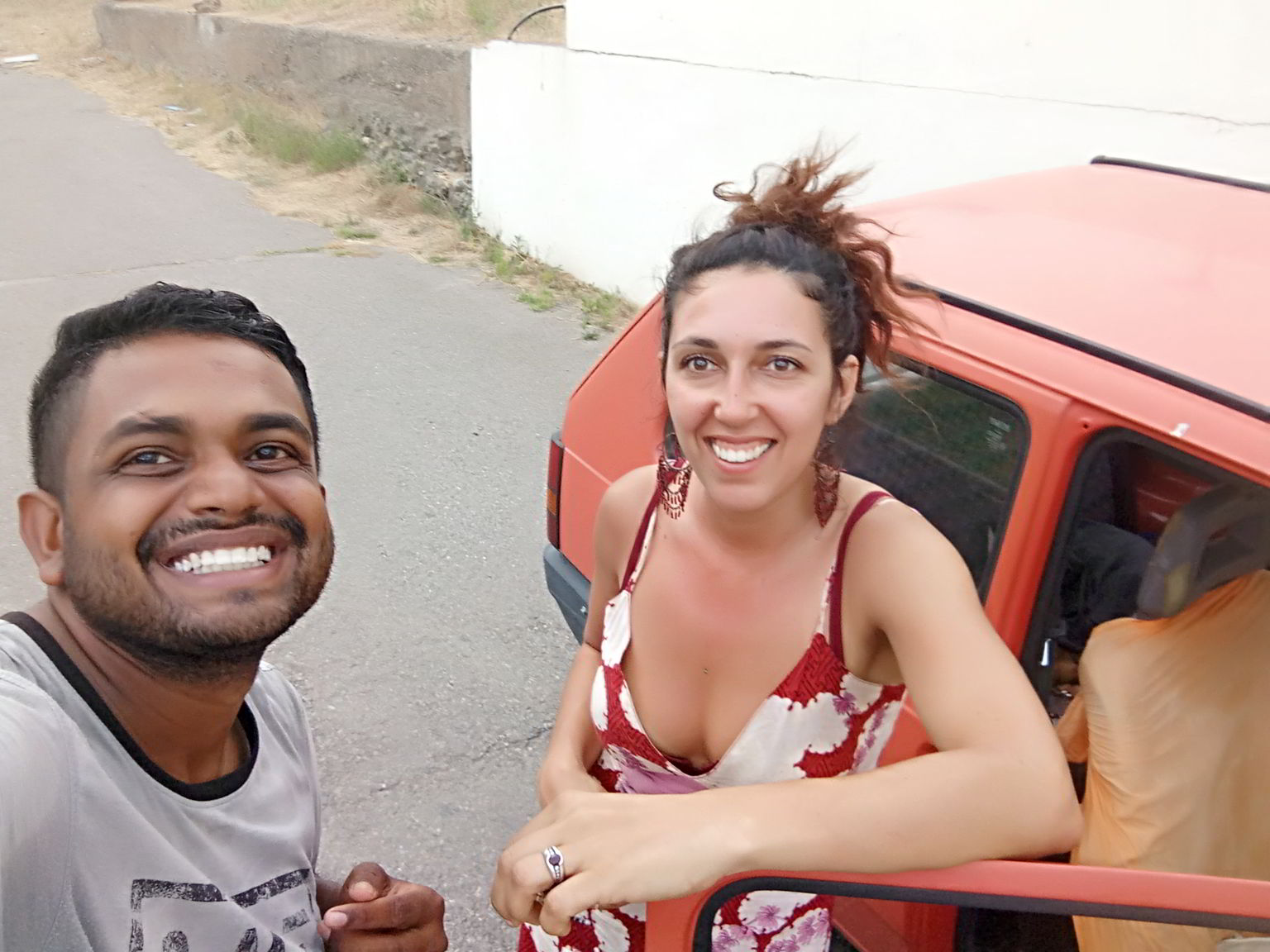 Ariel picked me up first. She spent quite some time in Latin America, and we tried our best to communicate with a mix of English, Spanish, and French