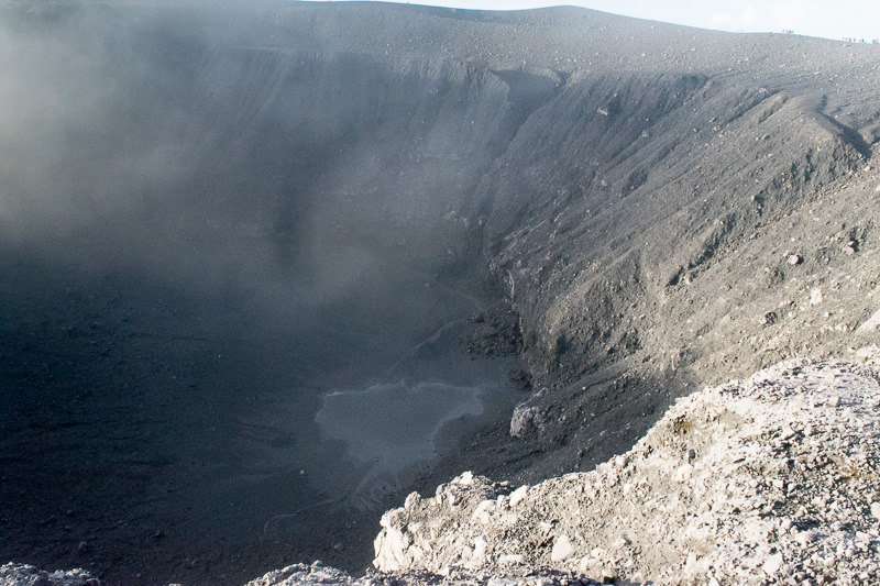 The smaller crater of Gunung Marapi