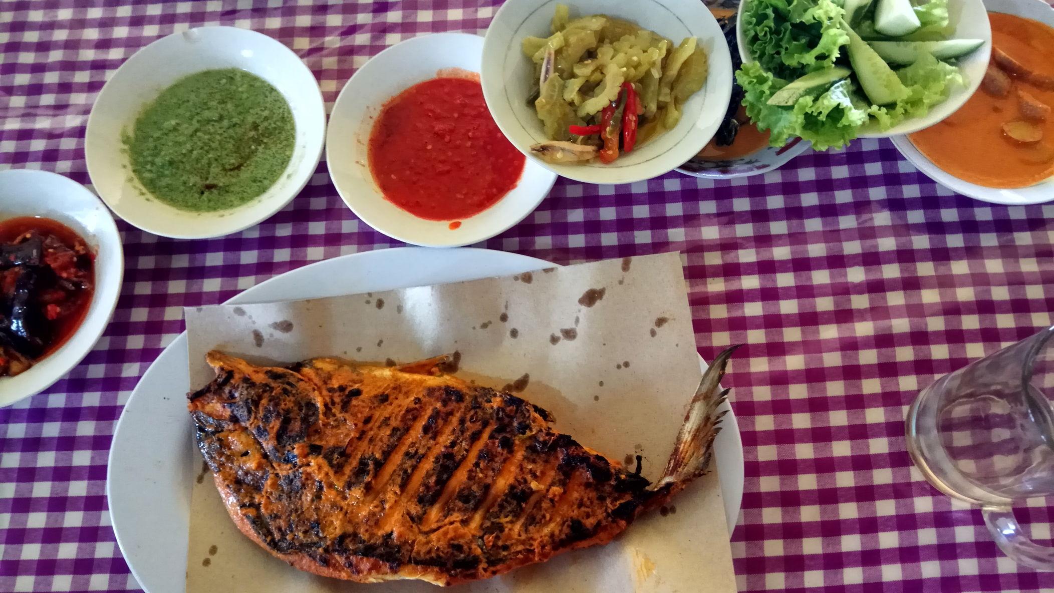 The signature fish dish from Padang