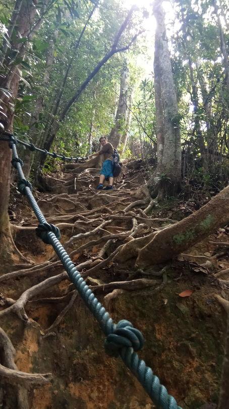 Hiking Mount Santubong with my CS friend