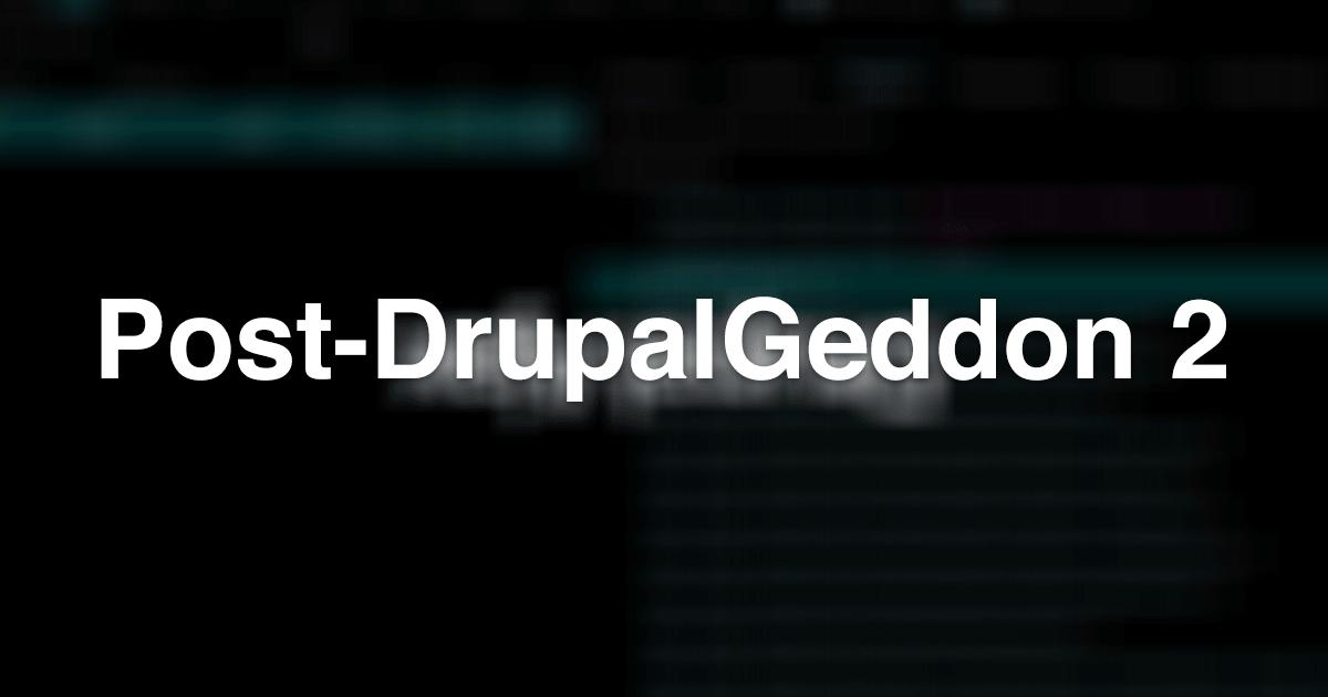 Drupal's Bodged AJAX system - Post-DrupalGeddon 2